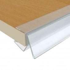 Ценникодержатель для деревянных полок прозрачный (DANX)