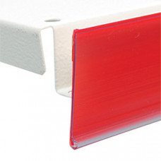 Ценникодержатель на клеевой основе 1000 мм красный (DBR39 К)