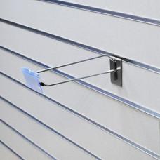 Крючок для эп одинарный с ценникод. хром L-250 мм (0455-250-48)