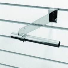Кронштейн для полки 300мм с кольцом хром (F218с)