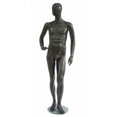 Манекен мужской черный глянец (FBMEAL2)