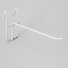 Крючок на решетку 15 см белый (210002)