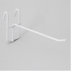 Крючок на решетку 10 см белый (210003)