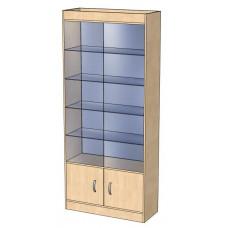 Шкаф В 202 С з.с стекло (В 202 С)