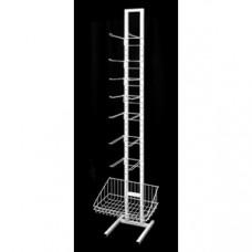 Стойка торговая 6 блоков крючков 200мм, 1корзина (ПР-21)