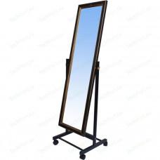 Зеркало напольное на колесах, черный муар 550Lx1774Hx505Dмм, пол. 1500х500мм
